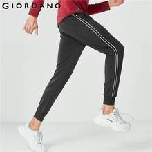 Giordano Men Joggers Men Interlock Contrast Color Joggers Elastic Waistband With Drawstring Freestyle Trousers Men Tape
