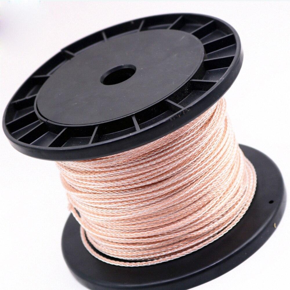 5M tressé OCC cuivre argent fil mise à niveau casque câble Audio