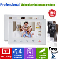 YSECU 7 Inch Colorful LCD Screen Video Doorbell Video Door Phone Home Security Camera Monitor Intercom