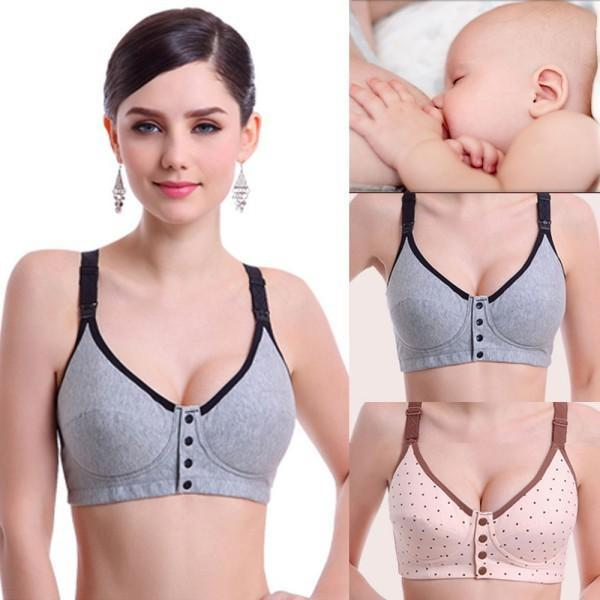 4df995ed74195 Wire Free Easy Nursing Feeding Pregnant Breastfeeding Bra Size 34