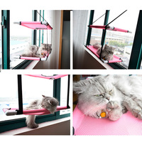 Cat Window Perch Hammock Mesh Bed Double Deck Window Suction Cups Seat Summer Cooling Hammock Bed
