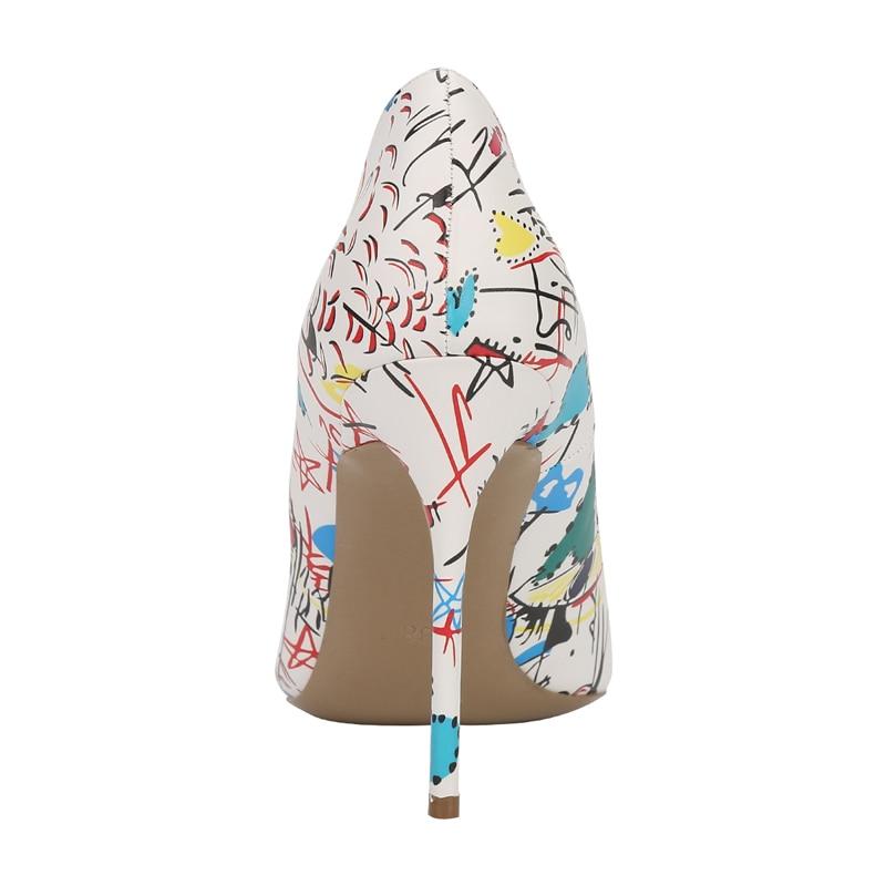 Parti Printemps Graffiti Chaussures De Cm Designer Luxe Mariage Stilettos Dame Pompes Sexy 12 Femmes Picture Femme Automne as Picture Talons As Haute Coloré O4anttw