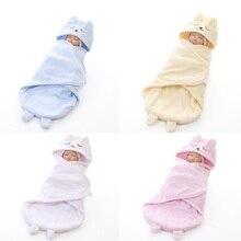Newborn Cartoon Baby  Autumn Winter Sleeping Bag Super Soft Infant Holding blanket
