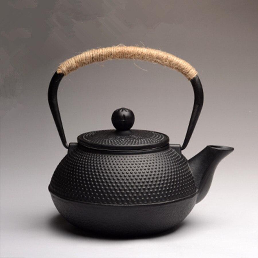 Аутентичные японский литой железный чайник комплект чай горшок чайник тэцубин посуда для напитков 900 мл Кунг Фу заварки металлическая сетк...