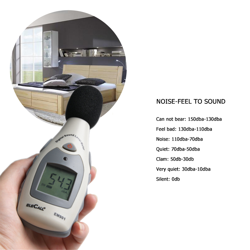 Mini LCD Backlight Digital Sound Level Meter Noise Tester Noise Measuring Instrument Decibel Tester 45-130dBA