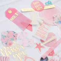 KSCRAFT 45pcs Miss You Vellum Stickers for Scrapbooking Happy Planner/Card Making/Journaling Project