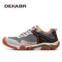 DEKABR Brand Breathable Mesh Hiking Shoes Mountain Men 2017 Outdoor Men Shoes Quality Climbing Hunting Men