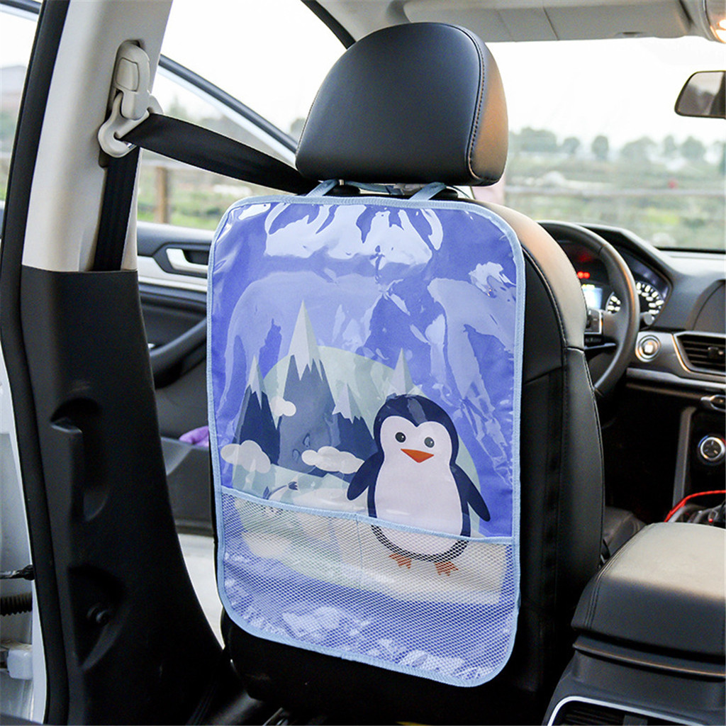 Car-Seat-Cover Anti-Kick-Mat Back-Protectors Baby Children Cartoon Waterproof-Pad