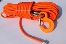 Envío Libre de Orange 12mm * 30 m UHMWPE Core con Chaqueta de UHMWPE Cuerda Sintética, ATV Winch Cable, barco Cabrestante