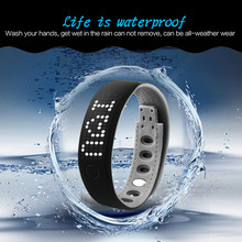 water proof Smart Bracelet Bluetooth 4.0 Health Wristband Sleep Monitor Two Way Antilost Sport Smart Watch For Android iPhone