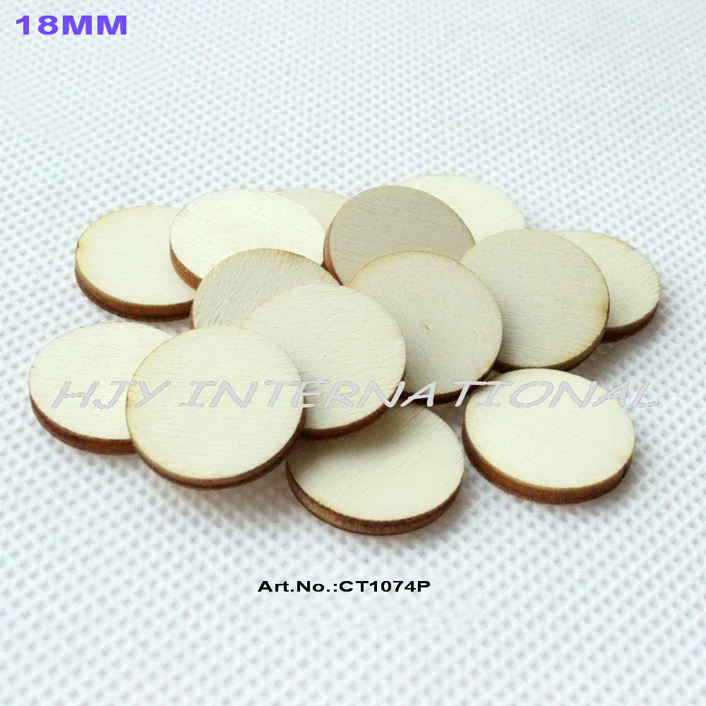 Wooden circles for crafts -  150pcs Lot 18mm Blank Wooden Circle Crafts Painting Decor Wooden Disc Diy 0 7 Ct1074p