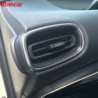 Bbincar ABS Chromed Matte Inner Air Conditioning Outlet Air Vent Accessories Trim 2Pcs Styling For Toyota