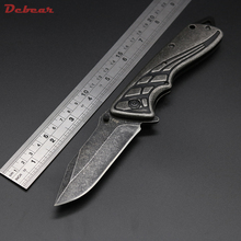 Dcbear  B53 Tactical Camping Knife Folder 440C Steel Rescue Tool Stone Wash Blade Survival Hunting Knife High Performance Knives