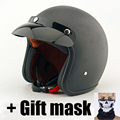 Motorcycle Helmet Open Face Scooter Helmet For Adults 3/4 Moto Retro Jet Helmets Harley motorcycle moto + gift motorcycle mask