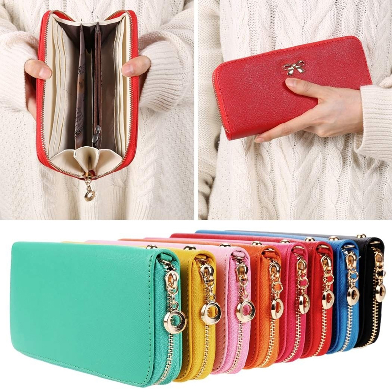 Wallets Female Phone-Purses Cards-Holder Coin-Bag Long-Clutch Bowknot Fashion Women Lady title=