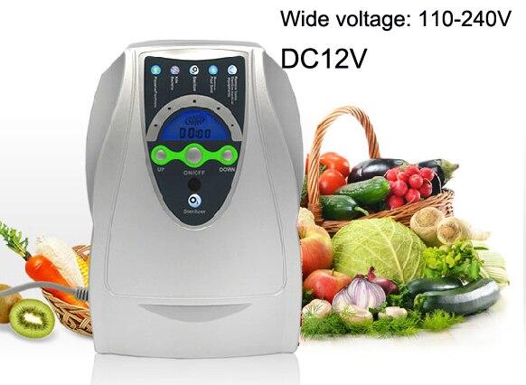 Portable Générateur D'ozone Active 110-240 V Large Gamme DC12V Voiture Accueil Stérilisateur Purification de purificateur D'air ozonateur ionisateur