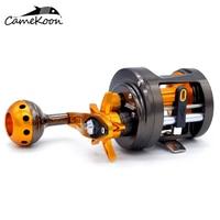 CAMEKOON Full Metal Round Baitcasting Reels 6KG Carbon Fiber Drag 12+1 Bearings Magnetic Brake Cast Drum Wheel