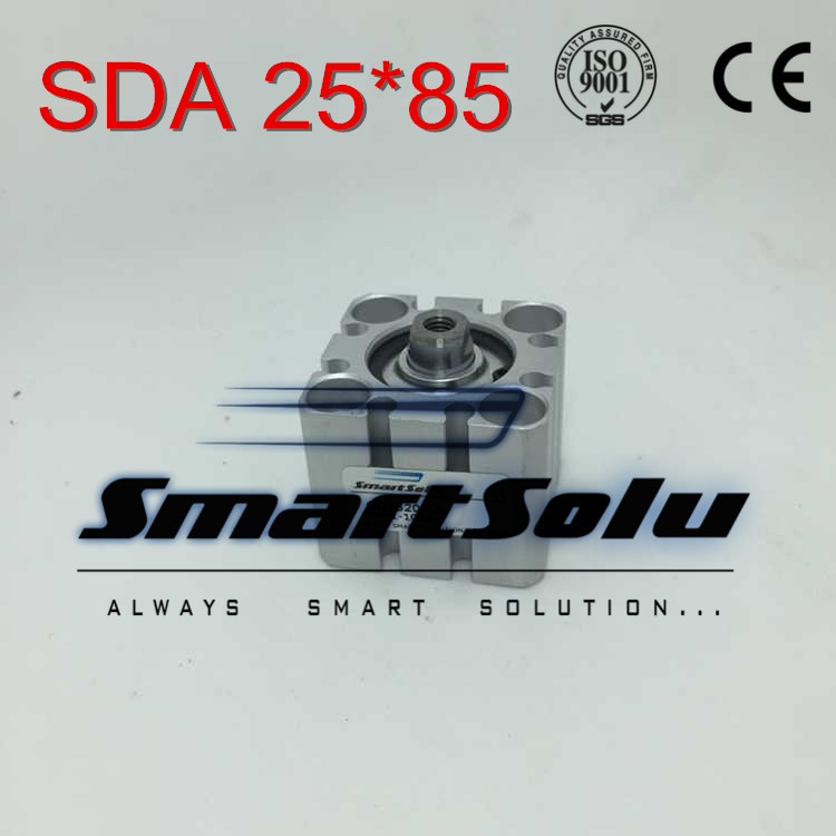 Free Shipping SDA 25*85 25mm bore 85mm stroke double acting valve actuator cylinder pneumatic SDA25-85 compact air cylinders compact air cylinders double acting pneumatic air cylinder sda32 25 32mm bore 25mm stroke