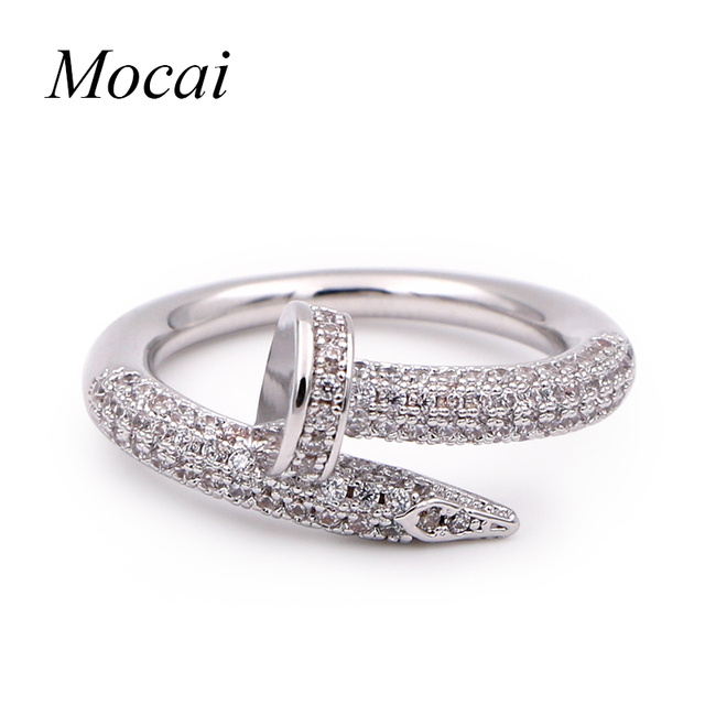 Mochai Luxury Shining Cubic Zircon Fashion Rings Brand Design Vintage Women Fing