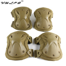 цена на High quality Military Tactical paintball protection , knee pads & elbow pads set  Airsoft Hunting Equipment
