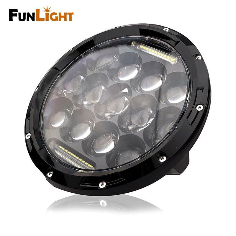 Black 7 Inch Round LED Headlight Assembly With DLR Light Super Bright Leds for jeep Wrangler JK TJ FJ Trucks цена