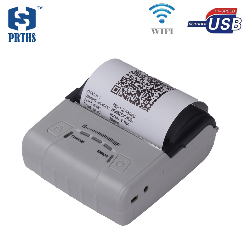 80mm WIFI portable printer mini thermal receipt printer widely used for public usage and personal work management HS-E30UW public relations science management