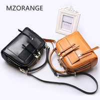 MZORANGE Luxury Brand Women Bag 2018 Italian cowhide Box Handbags Purse Genuine Leather Lady Tote Collection Bag Three colors
