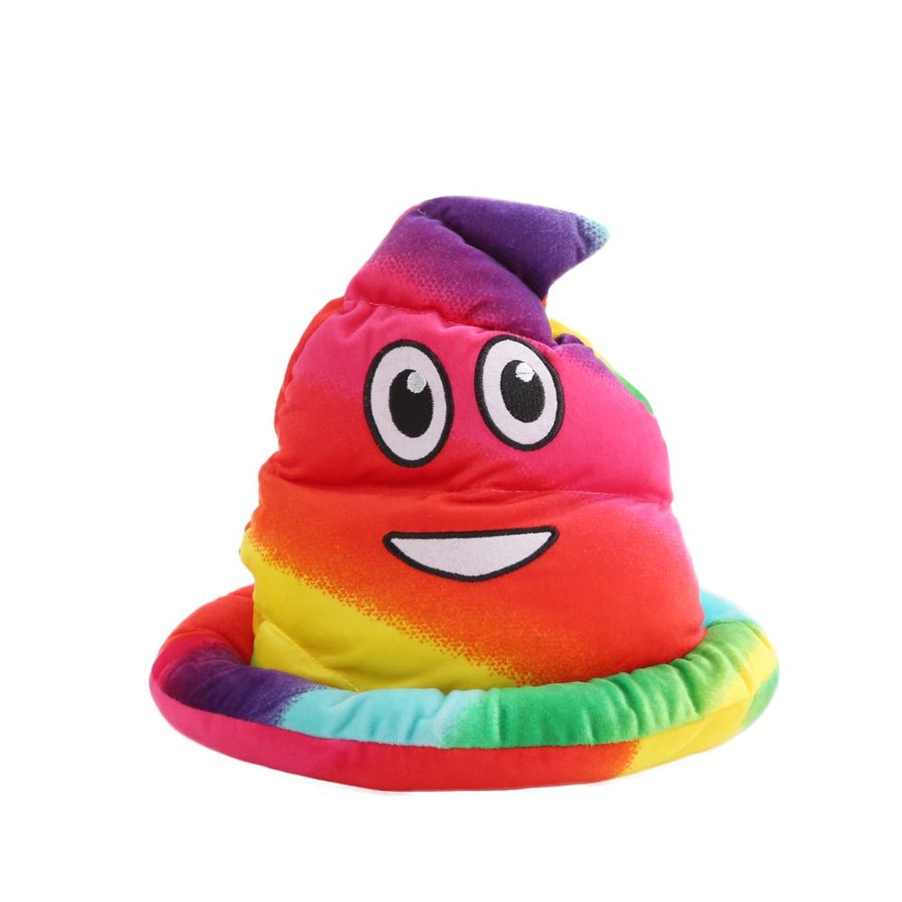 Colorful Winter Smile POO Caps Hats Children Boys Girls Skullies & Beanies Cotton Fashion Cute Unisex