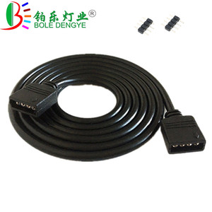 White Black 4PIN RGB Extension Cable 1M 2M 3M 5M 10M DC 12V Wire Cord Cable For 3528 5050 RGB LED Strip Light