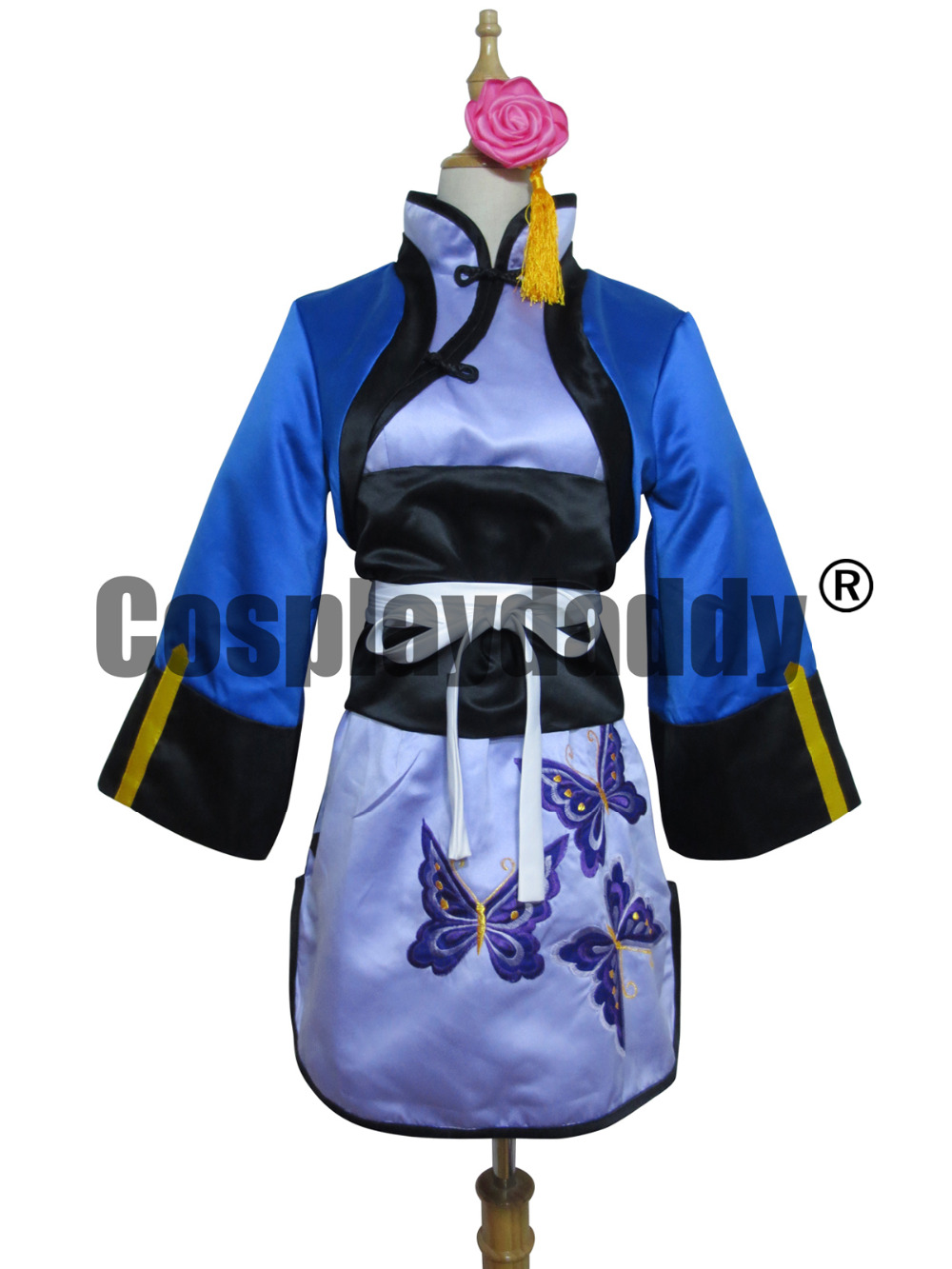 black butler ran mao girls cheongsam suit party cosplay costume - a641