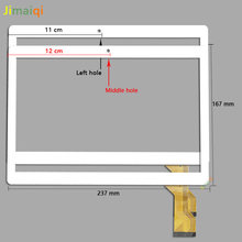 Новый для 10,1 ''дюймовый MJK-0643-V1 FPC планшет емкостный сенсорный экран панель дигитайзер стекло сенсор запасная часть 237*167 мм