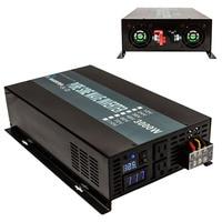 6000 Вт пик Чистая синусоида солнечный инвертор 12 В 120 В 3000 Вт Мощность инвертор 12 В/24 в/48 В постоянного тока до 120 В/220 В/240 В AC для кондиционера