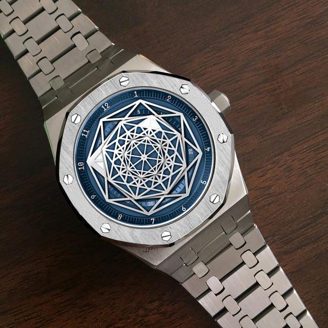 DIDUN Watch Men Luxury Brand Automatic Mechanical Watch Men Dress Business sport Watch Luminous Wristwatch 30m Waterresistant