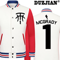 DUZJIAN Spring new Magic Tracy McGrady casual jacket T-Mac cheap men winter jackets male coat boys jacket hip hop youth jackets