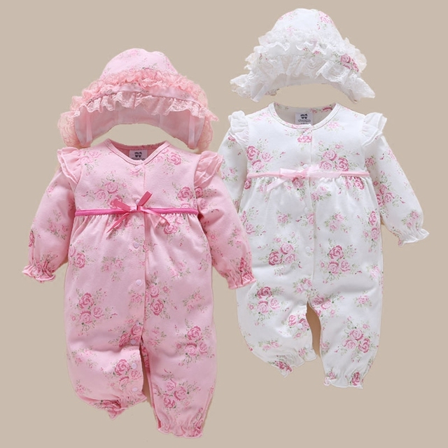 4fafdf7050f newborn baby girl romper vintage floral sleepsuit pink infant jumpsuit dress  2017 cute lace baby girl