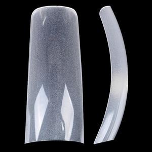 Image 2 - 504PCS/Fall 0,1mm Super Dünne Klar Französisch Acryl Nagel Tipps 10 Größen Halbe Abdeckung Falsche Fingernagel Kunst