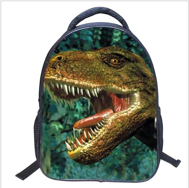 New Fashion Design Dinosaur Children School Bag Cool Backpack 3D Zoo Animal Printing Backpacks Dinosaur Bagpack for Boys
