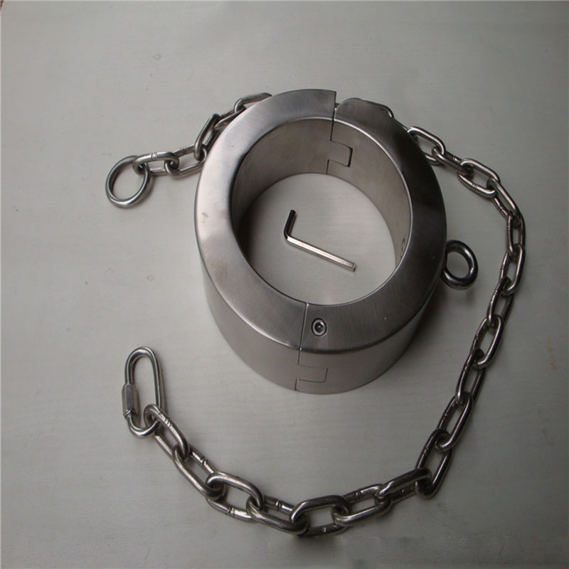 8cm high stainless steel bdsm collar bdsm women sex slave Heavy Duty 6.5kg bondage collar fetish adult sex toys for couples