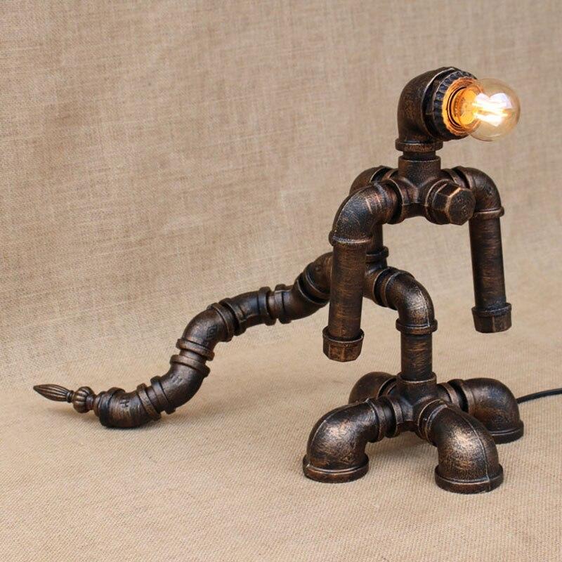 Aggressiv Art Deco Modernen Amerikanischen Land Roboter Tisch Lampen E27 Studie Nacht Schreibtisch Lampe Für Schlafzimmer/wohnzimmer/büro /bar/cafe Extrem Effizient In Der WäRmeerhaltung