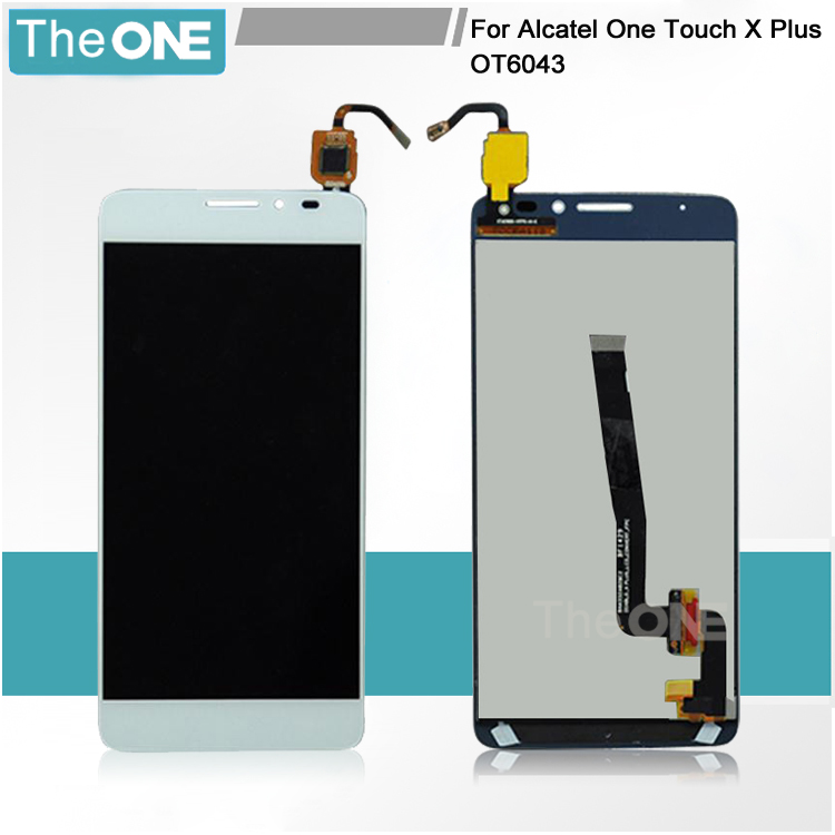 Black/White LCD Screen with Touch Screen Digitizer Assembly For Alcatel One Touch Idol X+ X Plus OT6043 6043 6043D Free Shipping  white black 1 pcs for alcatel one touch idol x 6043 ot6043 lcd display with touch screen digitizer assembly free shipping
