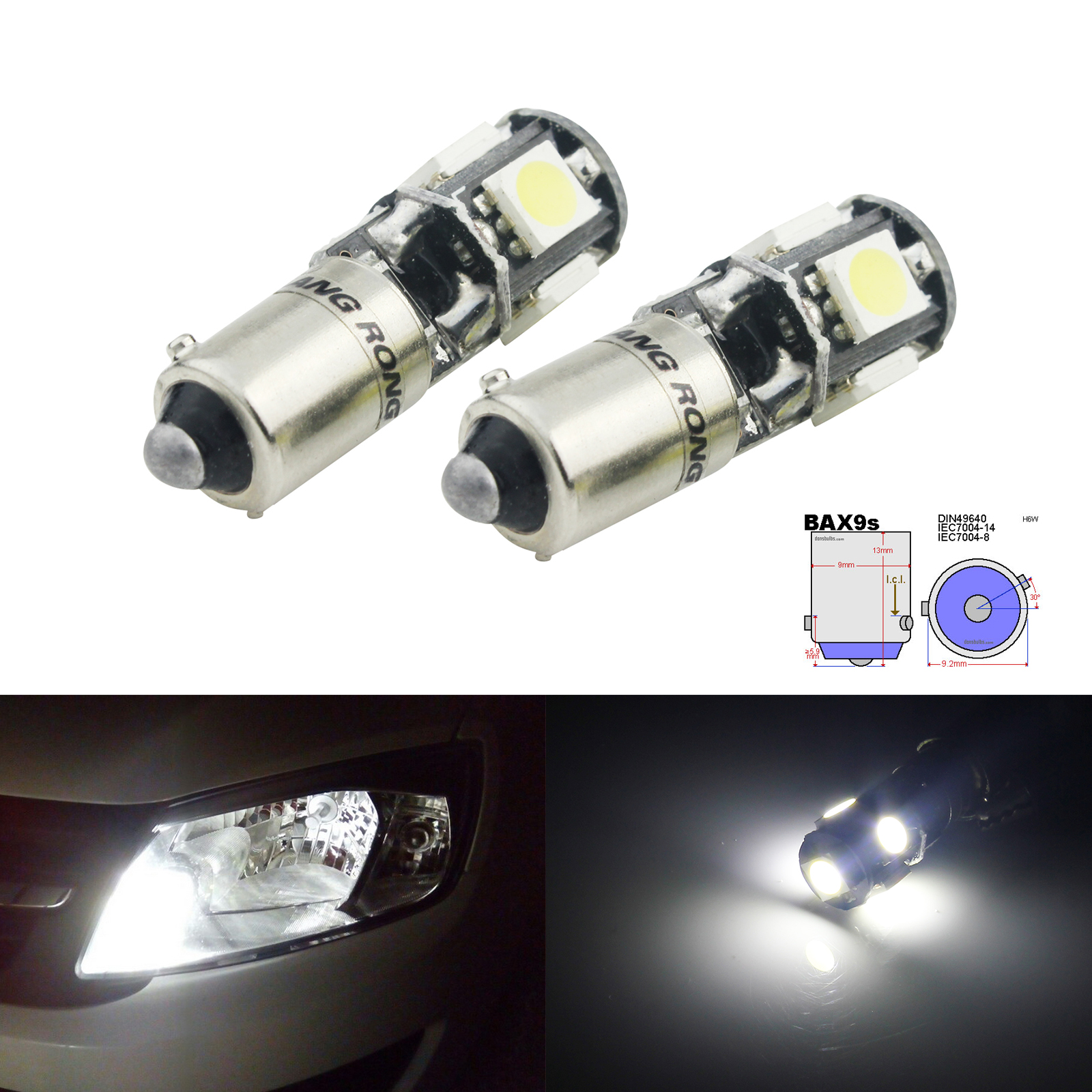 BAX9S H6W 433 434 SMD LED Side Indicator Reverse Parking Light Bulb BMW F30 F31