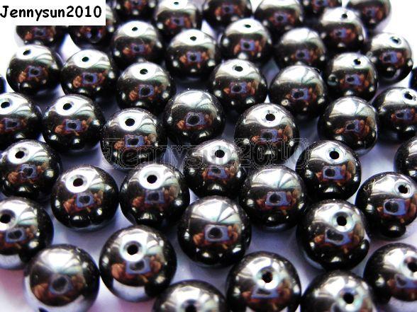 10 x ronde naturelle Hématite Pierre Cabochons 8 mm Craft et fabrication de bijoux