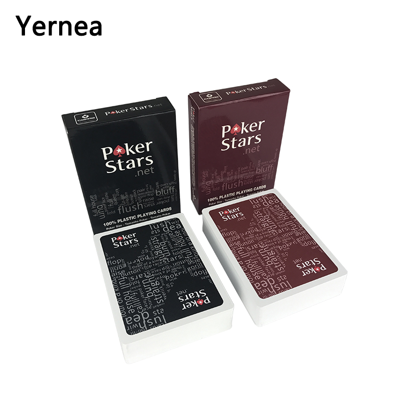 Yernea 4 Sets/Lot Baccarat Texas Holdem Plastic Playing Card Game Poker Cards Waterproof And Dull Polish Poker Star Board Games