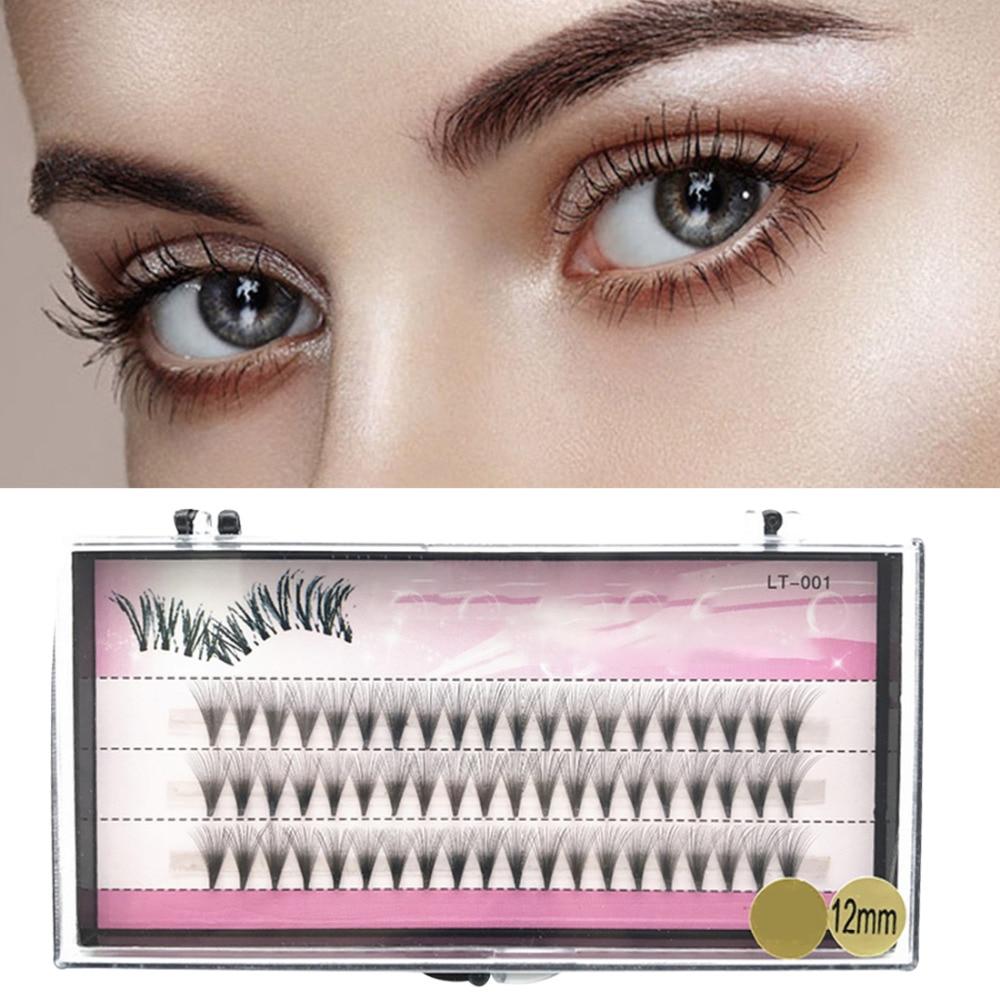Fake Eye Lashes 8/10/12mm 60 Bundles Natural Long False Eyelashes Set Individual Cluster Makeup Essential Big Eye Beauty Tips