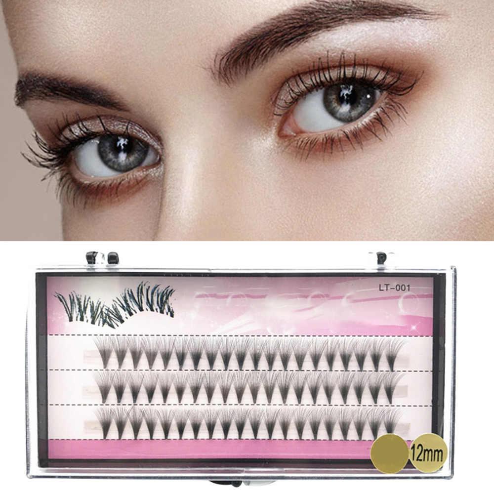 bc80640dbfb Individual Cluster Natural Long Fake Eye Lashes 8/10/12mm 60 Bundles False  Eyelashes
