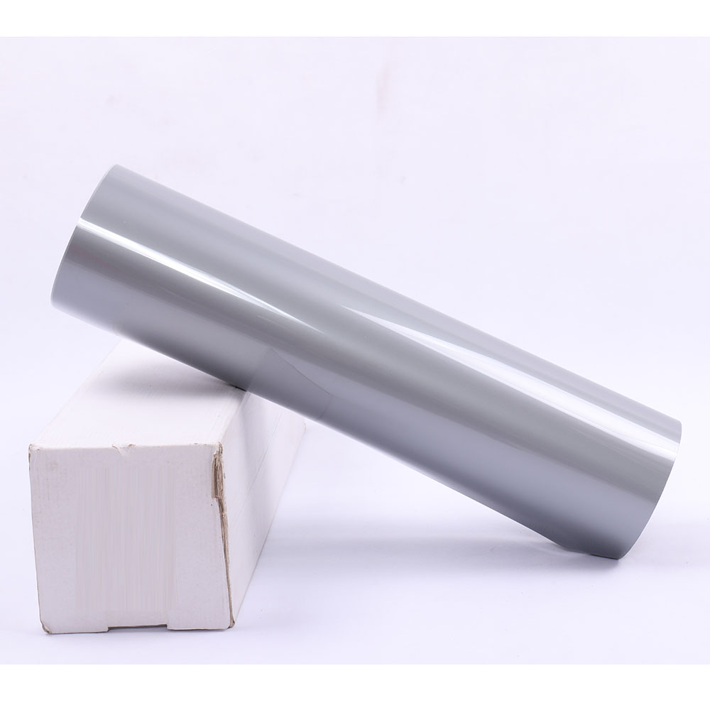 0.5x25m PVC Heat Transfer Vinyl Silver HTV Iron On Vinyl Roll, 20x83.3ft Heat Press Vinyl for T Shirts Sports Clothing