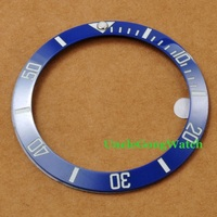 Watch Parts Corgeut 38mm Blue Ceramical Bezel Fit For 40mm SUB Automatic Watches Timepiece Insert For