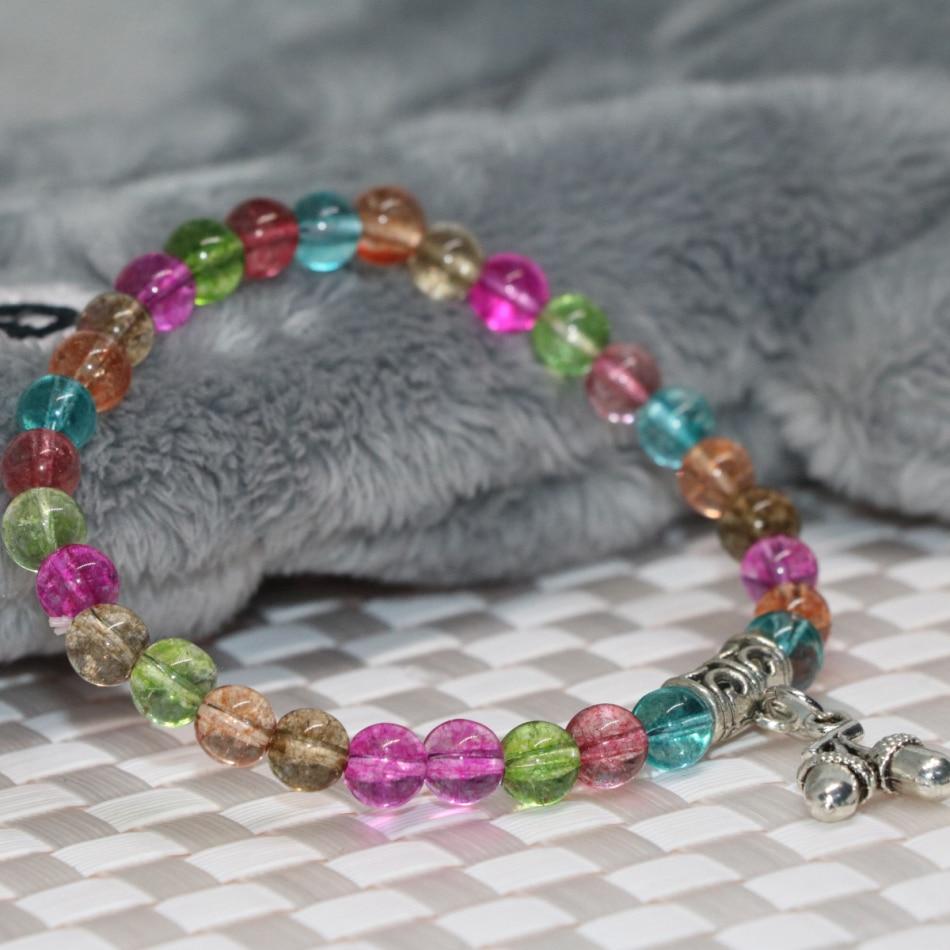 Sculpture Femme Ronde Colorée ᗑmulticolore simulé tourmaline 6mm perles rondes strand
