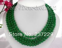 Wholesale price FREE SHIPPING AD 100 8mm nature round green jade necklace100 8mm nature round green jade necklace
