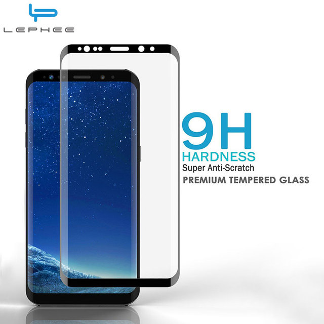 finest selection d17d8 233cb US $4.99  LEPHEE For Samsung S9 Tempered Glass Galaxy S9 Plus Screen  Protector 3D 4D Full Curved For Samsung S9 + S 9 Plus Phone Case 5.8